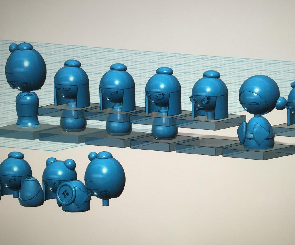 Kokeshine 3D model